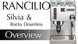Rancilio Silvia V3 & Rancilio Rocky Doserless Preview and Demonstration