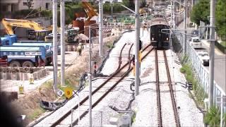 長崎の電車 Japanese Train 高架工事が進む浦上駅2017.8.4進捗 JR九州長崎本線