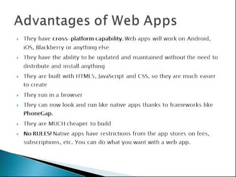 Learn to Build Mobile Apps from Scratch - Chapter 4 - Web Apps vs Native Apps