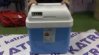 Автомобильный холодильник-подогреватель TR-124A: 24 л, пластик, 12/230 В от компании Большая ярмарка - видео