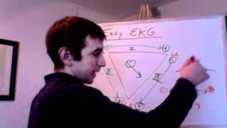 Easy EKG For Beginners Including Einthoven's Triangle And Basic Cardiology