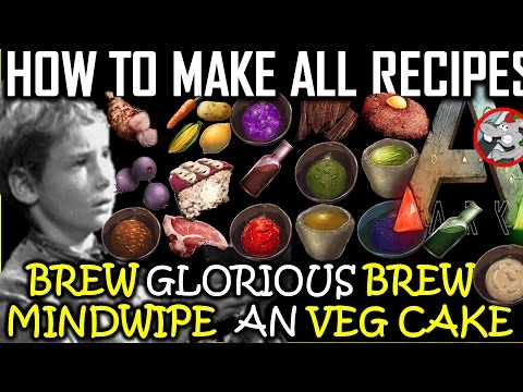 Video ARK: Survival Evolved How To Make All Recipes - Mindwipe Medical Brew Lazarus Chowder