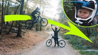 Elfjähriger schießt sich über dicke Downhill Sprünge! Johann Schumacher | Fabio Schäfer Vlog #193