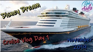 Disney Dream Cruise Vlog Day 1 November 2019 Embarkation - Room & Ship Tour - Sail Away - Merrytime