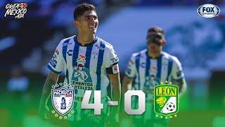 ¡GOLEADA DE PACHUCA PARA INICIAR EL TORNEO! PACHUCA 4-0 LEÓN  Liga MX