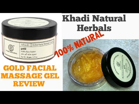 Khadi Herbals Gold Facial Massage Gel Review | For Healthy and Glowing Skin