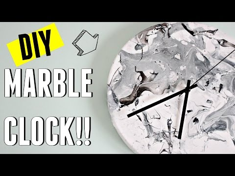 IKEA HACK ⚠️ DIY MARBLE CLOCK 💖 | Carly Musleh