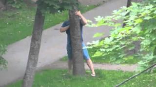 Человек в состоянии наркотического опьянения г. Гатчина ул. Киргетова Часть 2