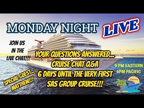 MONDAY NIGHT LIVE STREAM | SHARON AT SEA | CRUISE CHAT Q&A AND MORE!!!