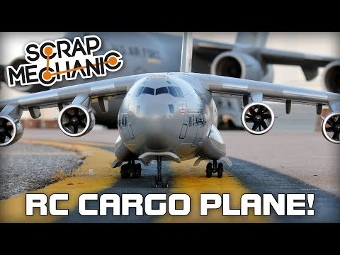 Building a Remote Control Cargo Plane! (Scrap Mechanic Live Stream)