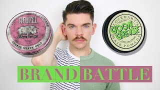 Reuzel Pink Pomade vs. Lockhart's Goon Grease Pomade | Brand Battle