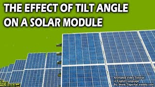 9- PV Panel Tilt Angle  | Basics of Solar Energy