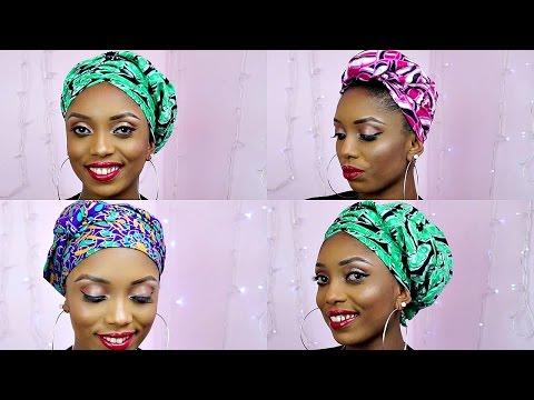 How To Tie African Ankara Head Wrap/Scarf Three Unique Styles