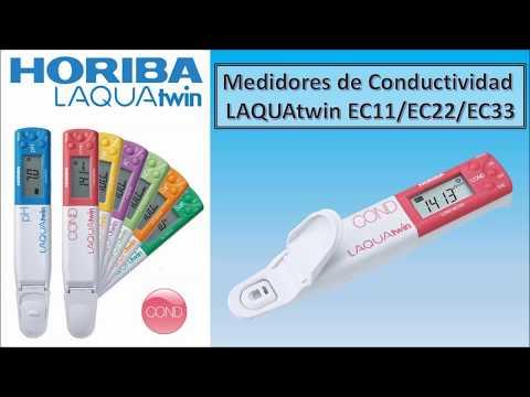 Medidores de Conductividad Eléctrica (EC) de bolsillo LAQUAtwin marca HORIBA