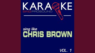 Dreamer (In the Style of Chris Brown) (Karaoke Instrumental Version)