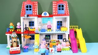 Peppa Pig Blocks Mega House Construction Sets - Lego Duplo House Creations Toys For Kids #8