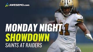 NFL Showdown Picks - Week 2 Monday Night Football - Saints Raiders - DraftKings Awesemo.com
