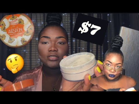 AIRSPUN LOOSE FACE POWDER | REVIEW ON DARK SKIN | FLASH TEST INCLUDED || Thebeautyjeneral