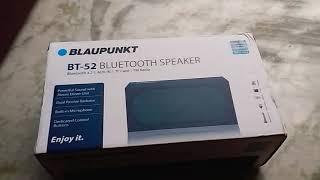 Blaupunkt BT 52 10W Bluetooth speaker review.