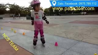 Mặc  bỉm trượt patin- bé 3 tuổi  quá  giỏi  😍😍