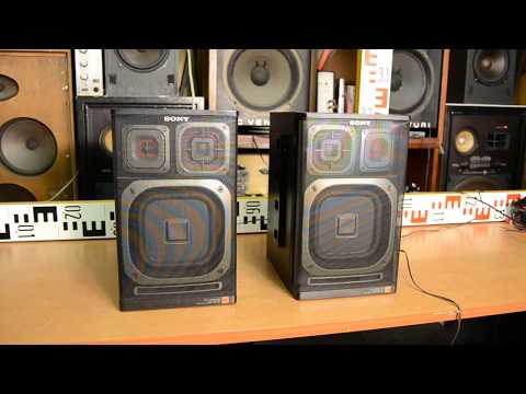 SONY APM 205 Boombox Loudspeakers Speakers Lautsprecherboxen Made In Japan Mp3