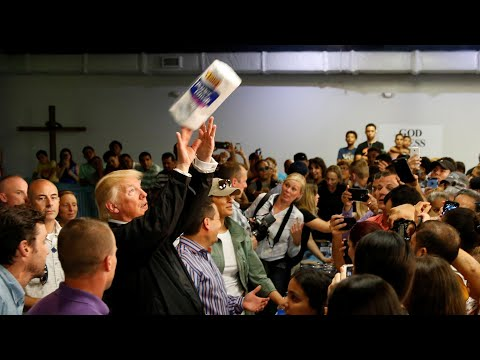 Trump throws paper towels into crowd in Puerto Rico