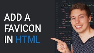 34: Add a favicon to a website in HTML - Learn HTML front-end programming
