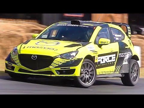 500Hp Mazda 2 Rally Car    VS    700Hp Subaru WRX STi - Leadfoot Festival 2019