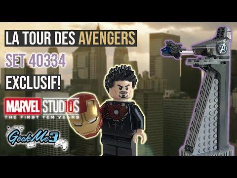Vidéo LEGO Marvel Super Heroes 40334 : La tour des Avengers