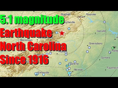 5.1 magnitude earthquake hits North Carolina, most powerful in the state since 1916