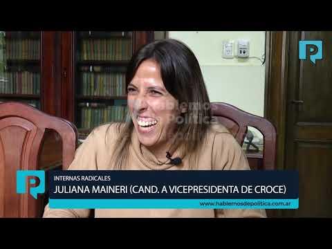 JULIANA MAINERI, CANDIDATA A VICEPRESIDENTA DE LA UCR.