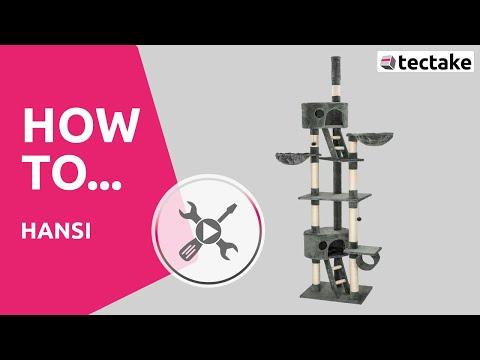 Katzenkratzbaum richtig aufbauen | TecTake