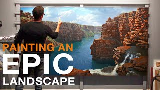 How To Paint A BIG LANDSCAPE PAINTING - EPIC Kimberley