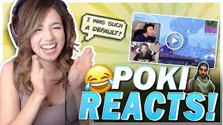 MYTH DITCHED ME!? POKI REACTS TO HER FIRST TIME PLAYING FORTNITE!