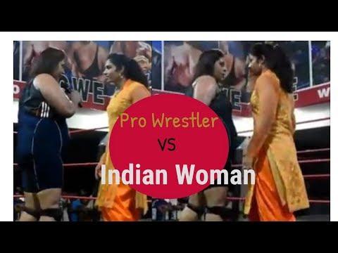 Professional Wrestler VS Ordinary Punjabi Woman| Crowd Stunned | Viral video