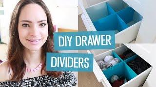 DIY Drawer Dividers | CharliMarieTV