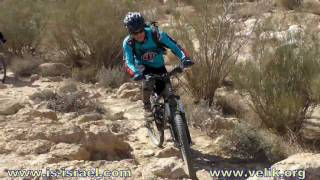 preview picture of video 'Mountain biking. Israel. Mitzpe Ramon - Nahal Hava (Central Negev)'