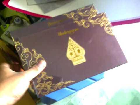 Video contoh model undangan pernikahan hardcover elegan wayang tema jawa coklat undangan jayapro 081230057