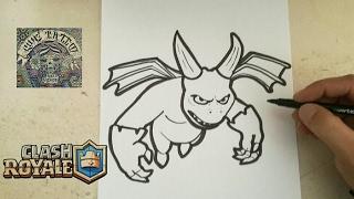 COMO DIBUJAR A ESBIRRO - CLASH ROYALE / how to draw esbirro - clash royal