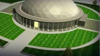 Church Dome FlyAround YouTube HD