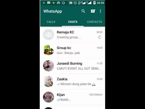 Video Cara mudah membuat group WhatsApp