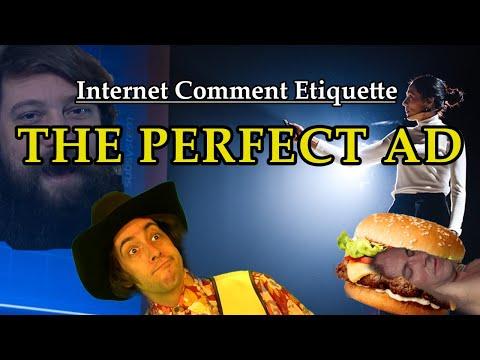 """Internet Comment Etiquette: """"The Perfect Ad"""""""