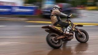 Supermoto Drifts, jumps & crashes - iDM St. Wendel [HD]