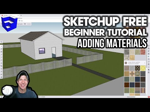 GETTING STARTED with SketchUp Free - Lesson 4 - Working with Materials in the Online Version