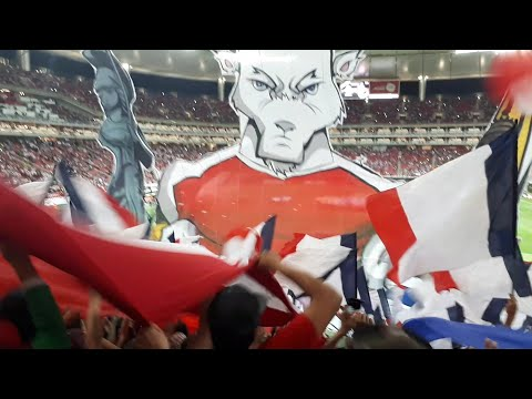 """""""Espectacular Recibimiento!!! Tifo desde la Barra - Chivas vs New York RB semifinal CONCACAF"""" Barra: La Irreverente • Club: Chivas Guadalajara"""