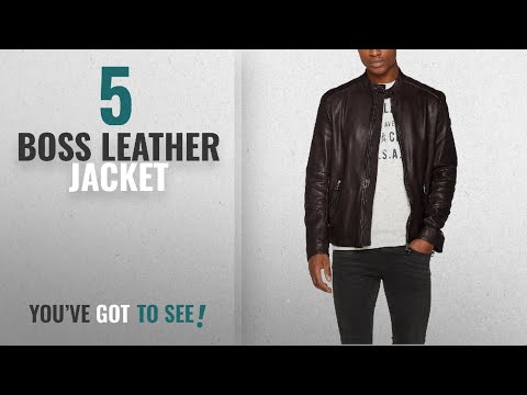 Top 10 Boss Leather Jacket [2018]: Boss Orange Men's Jeeper Jacket
