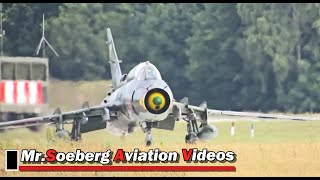 POWERFUL FULL AFTERBURN Departure 3x Su-22 Fitters Polish AF; at Volkel