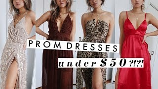 BEST (and Worst) PROM DRESSES UNDER $50!! | Try On Haul 2019