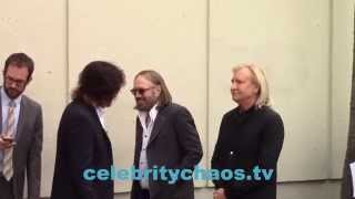 Jeff Lynne, Tom Petty and Joe Walsh hanging outside Star ceremony