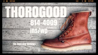 """THOROGOOD 814-4009  8"""" Waterproof/Insulated Plain Toe - Non-Safety Toe [ The Boot Guy Reviews ]"""